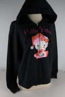 Hello Kitty Black HK Santa Kitty Hoodie JUNIOR 2566