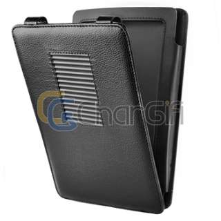 For New Nook Color Black Leather Gel Case Cover With Stand