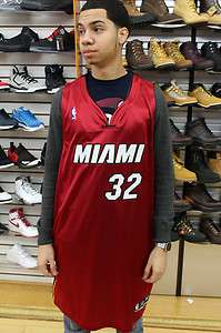 Miami Heat Scarlet Red White Black Shaquille Oneal #32 Authentic