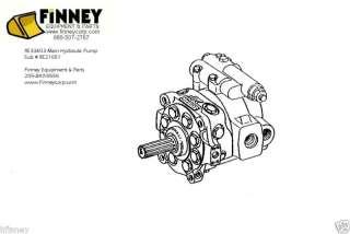 RE33603 John Deere Loader Backhoe 410C 510C 410D 510D Hydraulic Pump