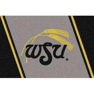 Wichita State Shockers 5 x 8 Team Door Mat: Sports