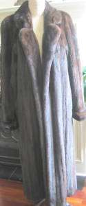 SAKS NATURAL MAHOGANY FULL LENGTH MINK COAT SZ MEDIUM