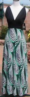 Black / Green Women Casual Summer Maxi Dress   Size S, M