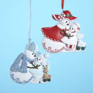 Club Pack of 12 Snowman Best Big Brother/Sister Christmas