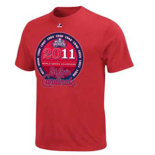 St. Louis Cardinals Red Majestic 2011 World Series Champs Eleventh