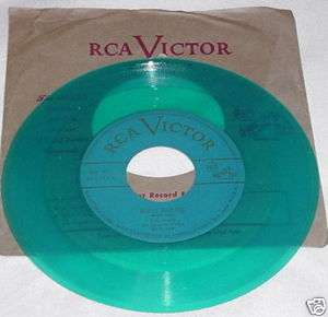COUNTRY 45RPM RECORD EDDY ARNOLD GREEN VINYL RCA