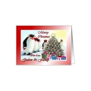 ~ Godson & Family ~ Whimsical Penguins / Christmas Tree / Gifts Card
