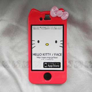 Hello Kitty Hard Case Cover Skin For iPhone 4 & 4S+Free Scree