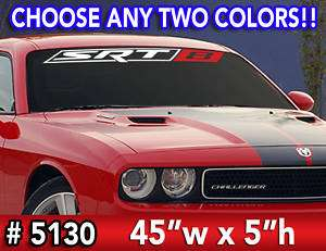 SRT 8 Windshield Decal Sticker 45x5Any 2 Colors #5130