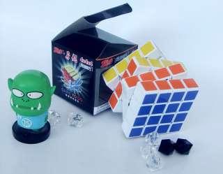 New 4x4x4 Rubiks Cube Magic Rubic Rubix Ghost Hand Speed Cube White