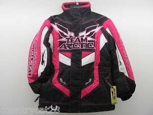 Team Arctic Coat   8 Youth Kids Girls   Pink Jacket   5210 592