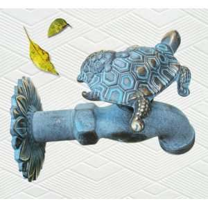 Brass Big Turtle with Baby Turtle on Back Garden Outdoor