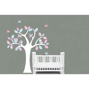 Kids childrens tree vinyl wall decal with penelope birds
