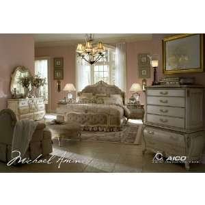 Aico Furniture Lavelle Bedroom Set Blanc 54 04 Br Set