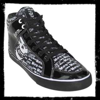 Draven Shoes Mens Misfits Fiend Hi Top Skate Horror Punk Rock Gothic