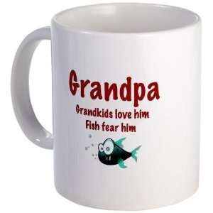 Grandpa   Fish fear him Funny Mug by CafePress: Kitchen