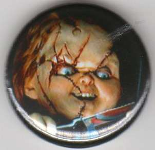 Childs Play Chucky 1 Round Pinback Button Brand New Made In The USA