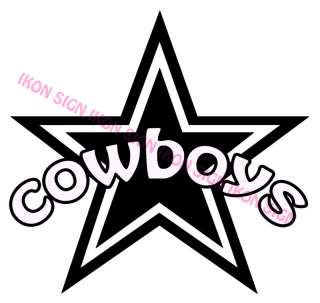 DALLAS COWBOYS STAR CUSTOM Vinyl Decal Sticker