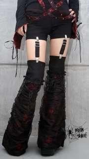Visual Punk Gothic Pants Trousers shorts+leg warmer