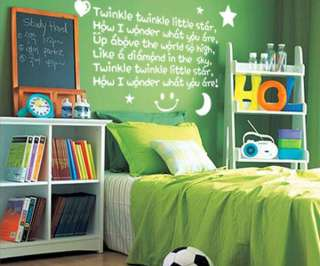 Twinkle Little Star Vinyl Wall Art Quote Decal Stickers
