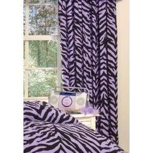 Purple zebra bedding by kimlor purple zebra drape set