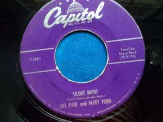 LES PAUL~MARY FORD 45 Jingle Bells~Silent Night 1951