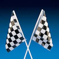 36 7 BLACK WHITE CHECKERED FLAGS/Race Car/Nascar/Birthday Party