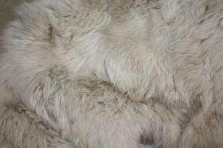 Real Rex Rabbit Fur Long White Duck Down Coat Jacket Beige S~L