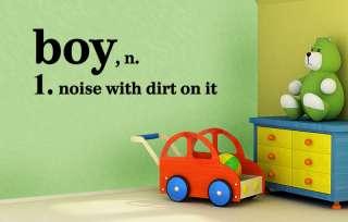 DEFINITION OF A LITTLE BOY VINYL WALL DECAL BOYS ROOM