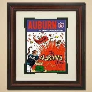 Auburn Tigers vs. Alabama Crimson Tide Framed Vintage