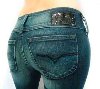 2010 NWT Diesel Strech Soft Jeans Cherock 8B2 Sequins