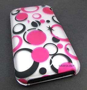 PINK SILVER POLKA DOTS HARD CASE COVER IPHONE 3G 3GS