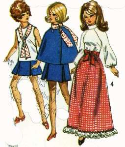 9097 Doll Clothes Pattern Barbie Julia Maddie Mod