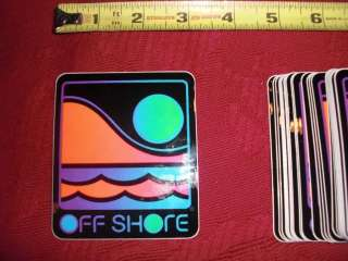 LOT of x45 Vintage OFF SHORE Surf Surfing STICKERS New NOS 1980s og