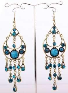 Credible Tibet Swarovski clear Crystal women Dangle Earring size110mm
