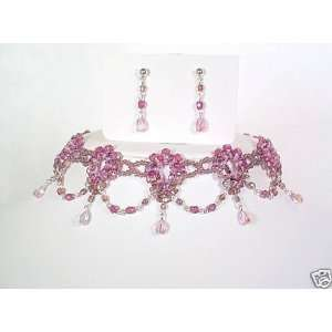 Necklace Jewelry Set, Light Purple , bridal wedding prom bridesmaid