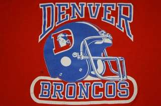 XL * vtg 80s DENVER BRONCOS shirt * soft and thin
