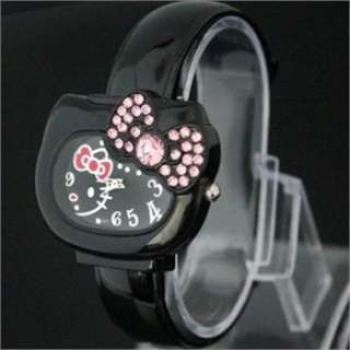 NEW Big dial lovely hellokitty Girls Wrist Watch Quartz Fashion