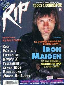 IRON MAIDEN rare magazine Argentina 1992