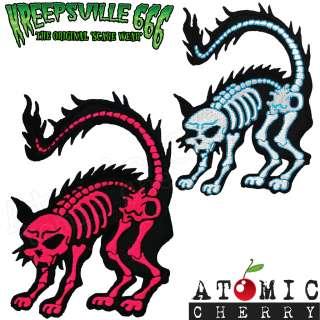 Ray Cat Patch Tattoo Rockabilly Punk Retro Zombie Dead Retro