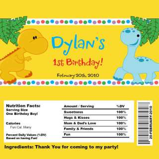 Set of 10 Baby Dinosaur Personalized Invitations