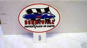 Porcelain Bonneville License Plate Topper, Chevy, Ford