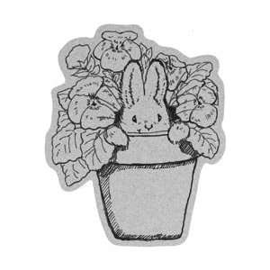 Penny Black Cling Rubber Stamp 4X5.25 Pansy Bunny: Home