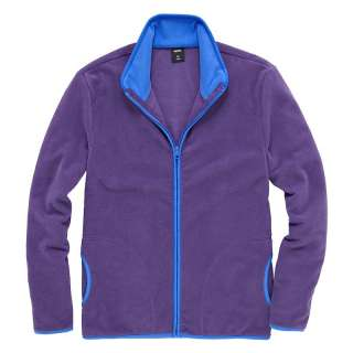 Mens Casual Jacket Mens Warm Simple Tipped Zipper Polar Fleece Jacket