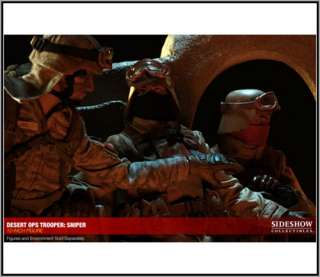 Desert Ops Trooper Sniper 12 Figure w/ LED Display Case MIB
