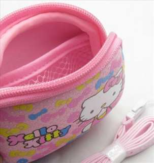 Pink Hello Kitty Digital Camera Bag Pouch Case & Strap