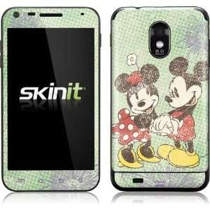 Mickey & Minnie Holding Hands Vinyl Skin for Samsung Galaxy S II Epic