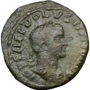 251AD Viminacium Moesia Bull Lion Ancient Rare Roman LEGIONS Coin