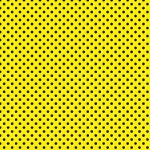 POLKA DOTS PATTERN Yellow and Black Vinyl Decal Sheet 12x36 Sticker
