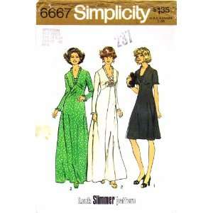Simplicity 6667 Vintage Sewing Pattern Womens Full Figure Dress